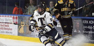 Blake Robertson of Trine (Bill Barbosa/Trine Athletics)