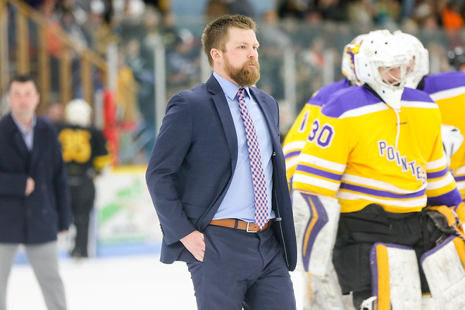 Coach Tyler Krueger of Wisconsin-Stevens Point (UWSP Athletics – Kylie Bridenhagen)
