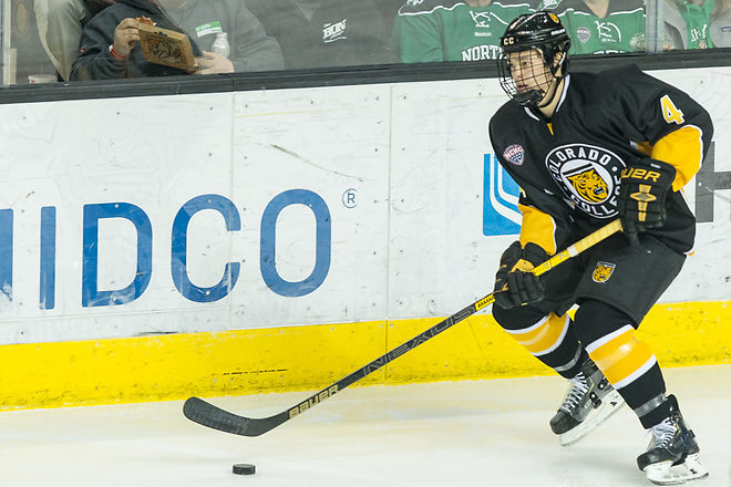 Bryan Yoon (Colorado College-4) 2019 January 12 University of North Dakota hosts Colorado College in a NCHC matchup at the Ralph Engelstad Arena in Grand Forks, ND (Bradley K. Olson)