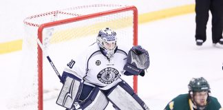 Geneseo goaltender Devin McDonald (Geneseo Athletics)