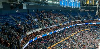 The Key Bank Center hosts the 2019 Frozen Four (Omar Phillips)