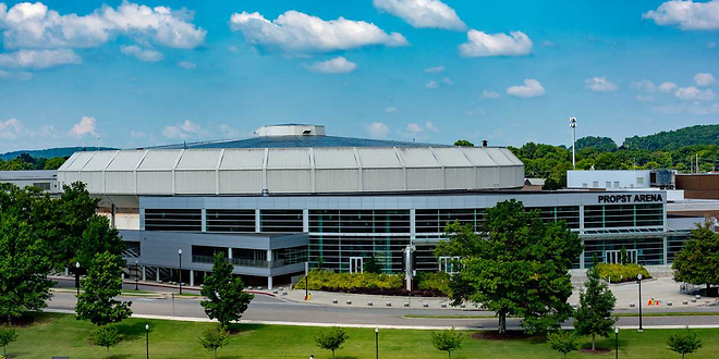 The Von Braun Center is located roughly four miles from the Alabama Huntsville campus (photo: vonbrauncenter.com)