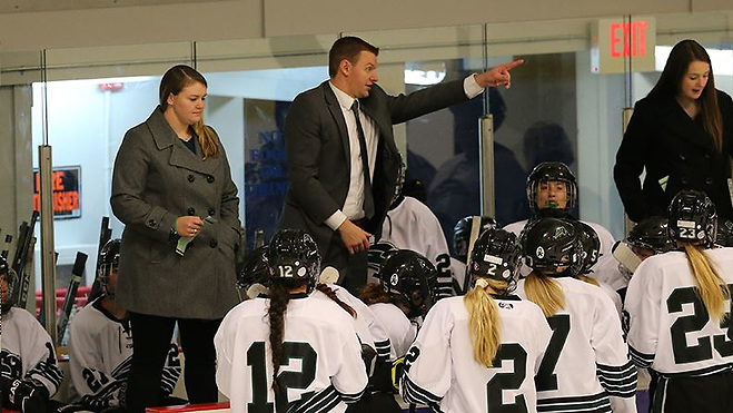 Mike O'Grady coached the Nichols women's team from 2017 to 2019 (photo: Nichols College Athletics)