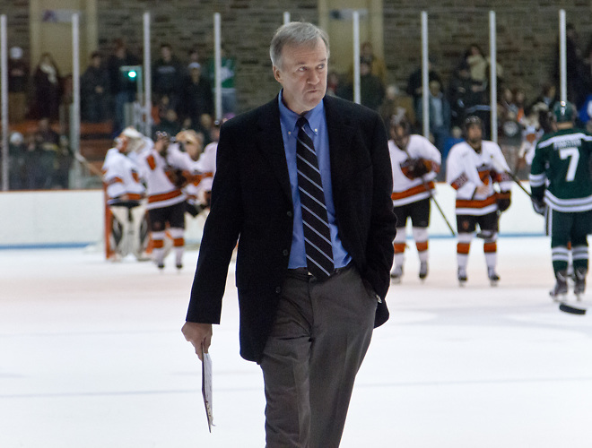 Dartmouth head coach, Bob Gaudet. (Shelley M. Szwast)