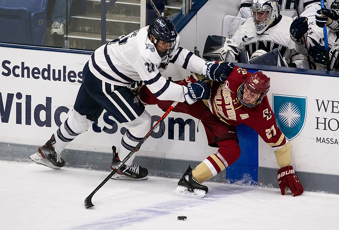 DURHAM, NH - NOVEMBER 1: The Boston College Eagles visit the New Hampshire Wildcats during NCAA men's hockey at the Whittemore Center on November 1, 2019 in Durham, New Hampshire. (Photo by Rich Gagnon/USCHO) (Rich Gagnon)