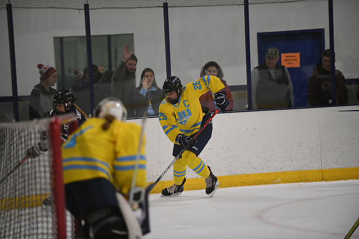 LIU Women's Ice Hockey vs UCONN held at the Ice Works Skating facility in Syosset, NY on Saturday, October 5, 2019. Photo by Alan J Schaefer (Alan J Schaefer/Photos by Alan J Schaefer)