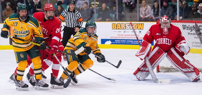 GOTW: Cornell doubles up Clarkson as Galajda stops 29, Donaldson, Malott each record two points