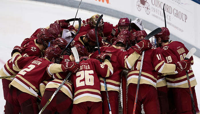 DURHAM, NH - NOVEMBER 1: The Boston College Eagles visit the New Hampshire Wildcats during NCAA men's hockey at the Whittemore Center on November 1, 2019 in Durham, New Hampshire. The Wildcats won 1-0 in overtime. (Photo by Rich Gagnon/USCHO) (Rich Gagnon)
