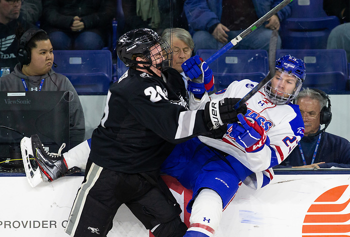 LOWELL, MA - DECEMBER 7: NCAA men's hockey at the Tsongas Center between the UMass-Lowell River Hawks and the Providence College Friars on December 7, 2019 in Lowell, Massachusetts. (Photo by Rich Gagnon/UMass-Lowell Athletics) (Rich Gagnon)