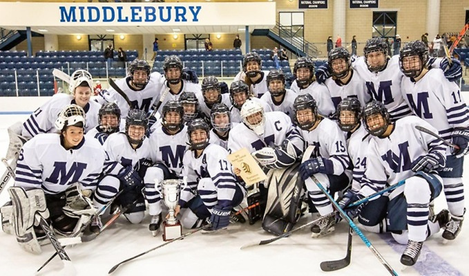 Middlebury celebrates its first Panther/Cardinal Classic title since 2005 (Middlebury Athletics)
