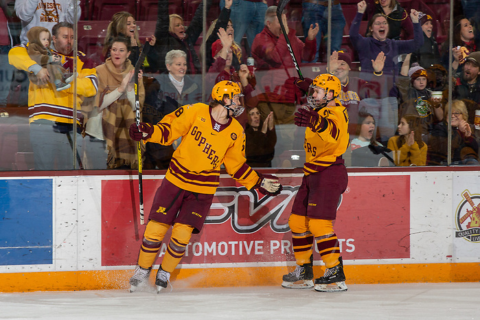 25 Jan 20: The University of Minnesota Golden Gophers host the Ohio State University Buckeyes in a B1G matchup at 3M Arena at Mariucci in Minneapolis, MN. (Jim Rosvold)