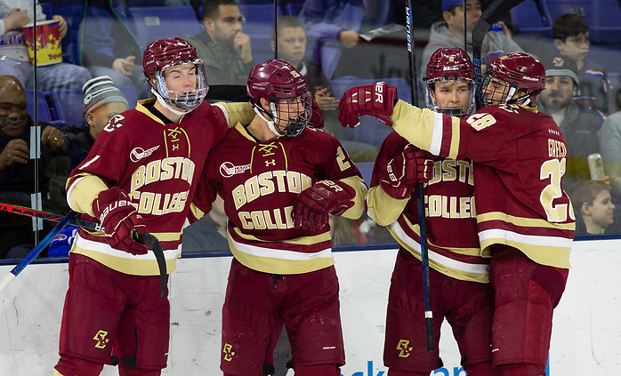 LOWELL, MA - JANUARY 17: UMass Lowell plays host to Boston College during NCAA men's hockey at the Tsongas Center on January 17, 2020 in Lowell, Massachusetts. (Photo by Rich Gagnon) (Richard T Gagnon)