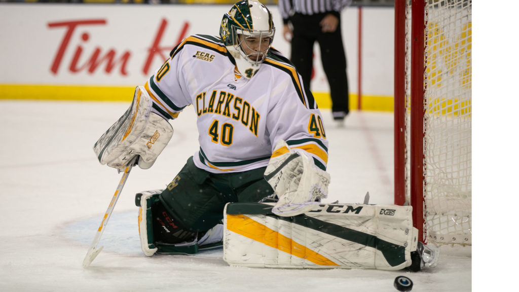Grad student Marotte performing admirably for Clarkson, a team that 'certainly lucked out' in getting veteran goalie
