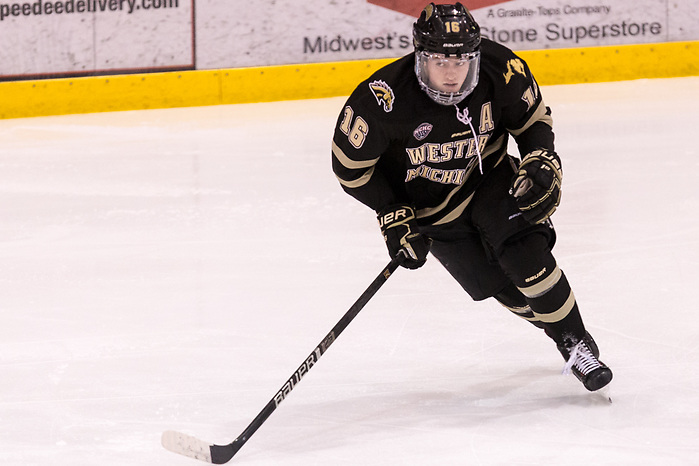 Hugh McGing (Western Michigan-16) Hugh McGing (Western Michigan-16) 2019 January 12 University of North Dakota hosts Colorado College in a NCHC matchup at the Ralph Engelstad Arena in Grand Forks, ND (Bradley K. Olson)