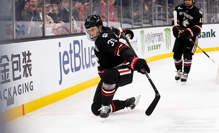 BOSTON, MA - FEBRUARY 3: NCAA hockey in the semifinals of the annual Beanpot Hockey Tournament at TD Garden on February 3, 2020 in Boston, Massachusetts. (Photo by Rich Gagnon/USCHO) (Rich Gagnon)