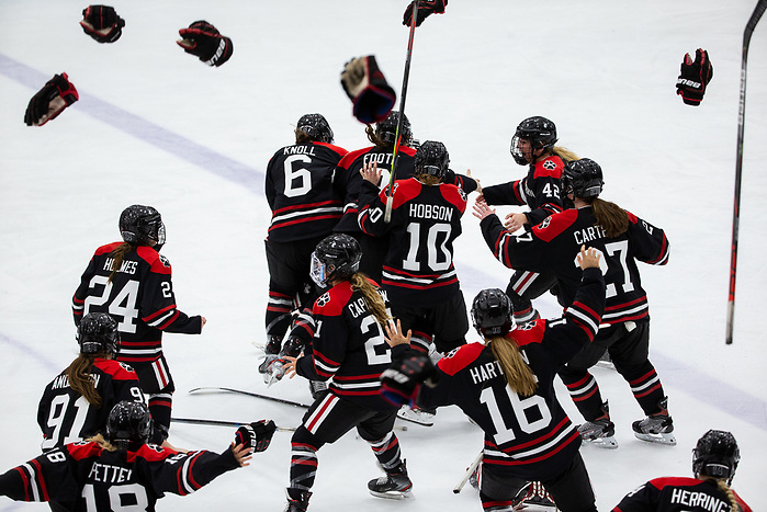 BOSTON, MA - FEBRUARY 11: NCAA woman's Beanpot ice hockey at Walter Brown Arena on February 11, 2020 in Boston, Massachusetts. (Photo by Rich Gagnon/BU Athletics) (Rich Gagnon/BU Athletics)