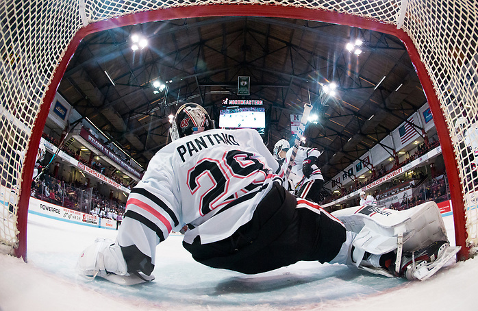 BOSTON, MA - JANUARY 31: Craig Pantano #29 of the Northeastern Huskies. The Providence College Friars visit the Northeastern Huskies during NCAA men's hockey at Matthews Arena on January 31, 2020 in Boston, Massachusetts. (Photo by Rich Gagnon/USCHO) (Rich Gagnon)