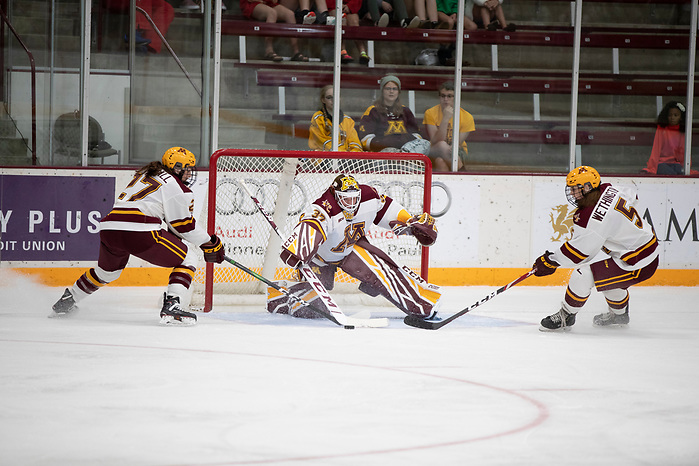 22 Sep 19:  The University of Minnesota Golden Gophers host the Minnesota Whitecaps in an exhibition matchup at Ridder Arena in Minneapolis, MN. (Jim Rosvold/University of Minnesota) (Jim Rosvold/University of Minnesota)