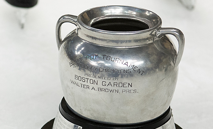- The Boston College Eagles defeated the Northeastern University Huskies 6-3 for their fourth consecutive Beanpot championship on Monday, February 11, 2013, at TD Garden in Boston, Massachusetts. (Melissa Wade)
