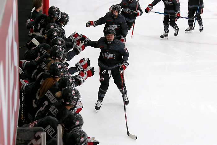 Ohio State plays Minnesota at the Ohio State Ice Rink on Friday, October 25, 2019 in Columbus, Ohio. (Kirk Irwin)