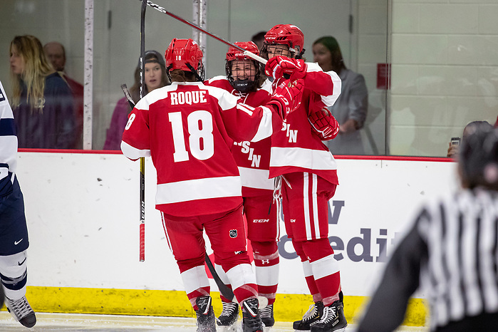 Wisconsin Badgers XXXX during an NCAA college women's hockey game against the Penn State Nittany Lions Friday, Oct. 4, 2019, in Madison, Wis. The Badgers won 7-0. (Photo by David Stluka/Wisconsin Athletic Communications) (David Stluka)