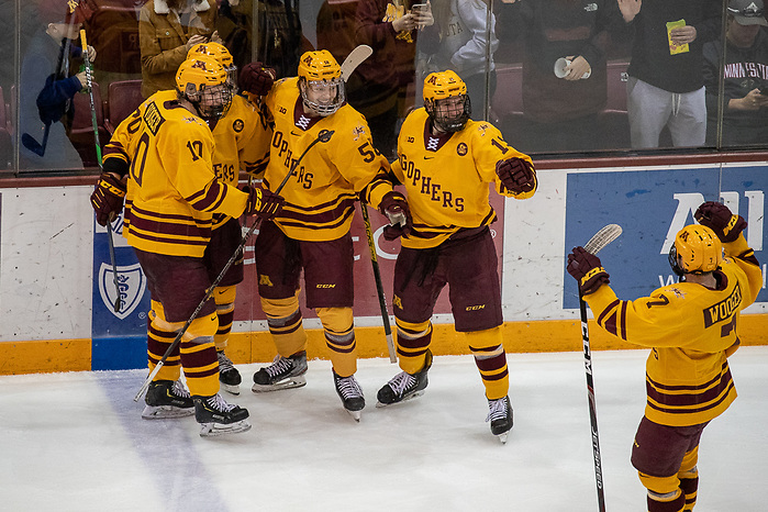 8 Mar 20: The University of Minnesota Golden Gopher host the University of Norte Dame Fighting Irish in the quarterfinal round of the 2020 B1G Tournament at 3M Arena at Mariucci in Minneapolis, MN. (Jim Rosvold)