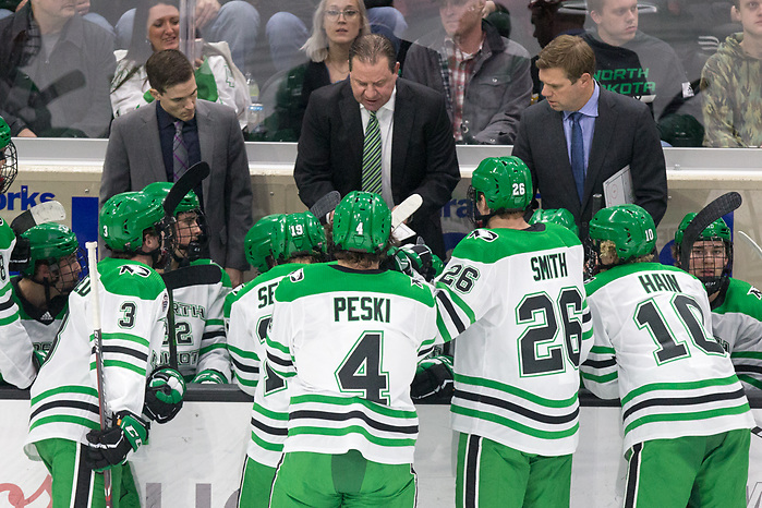 2019 November 22 St. Cloud State University and University North Dakota meet in NCHC conference game at the Ralph Engelstad Arena Grand Forks, ND (Bradley K. Olson)