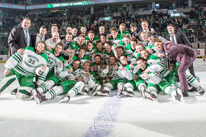 2020 February 21University North Dakota and  St. Cloud State University and meet in NCHC conference game at the Herb Brooks National Hockey Center in St. Cloud, MN (Bradley K. Olson)