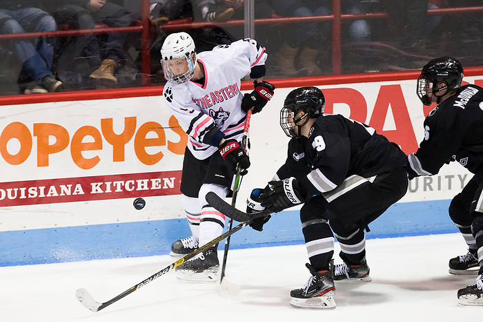 BOSTON, MA - JANUARY 31: Tyler Madden #9 of the Northeastern. The Providence College Friars visit the Northeastern Huskies during NCAA men's hockey at Matthews Arena on January 31, 2020 in Boston, Massachusetts. (Photo by Rich Gagnon/USCHO) (Rich Gagnon)