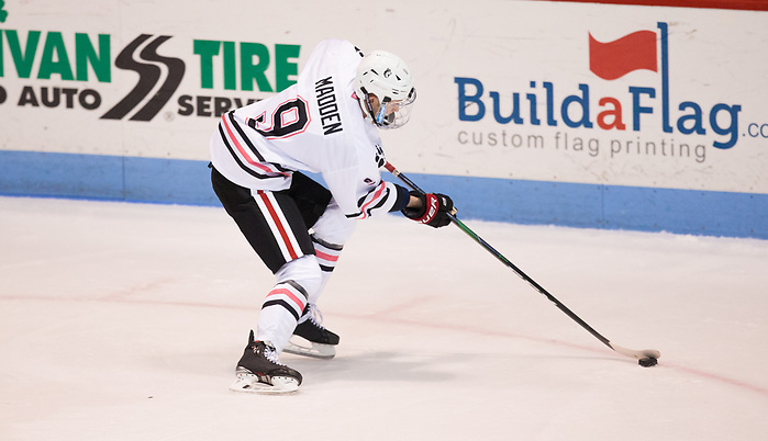 BOSTON, MA - JANUARY 31: Tyler Madden #9 of the Northeastern Huskies. The Providence College Friars visit the Northeastern Huskies during NCAA men's hockey at Matthews Arena on January 31, 2020 in Boston, Massachusetts. (Photo by Rich Gagnon/USCHO) (Rich Gagnon)