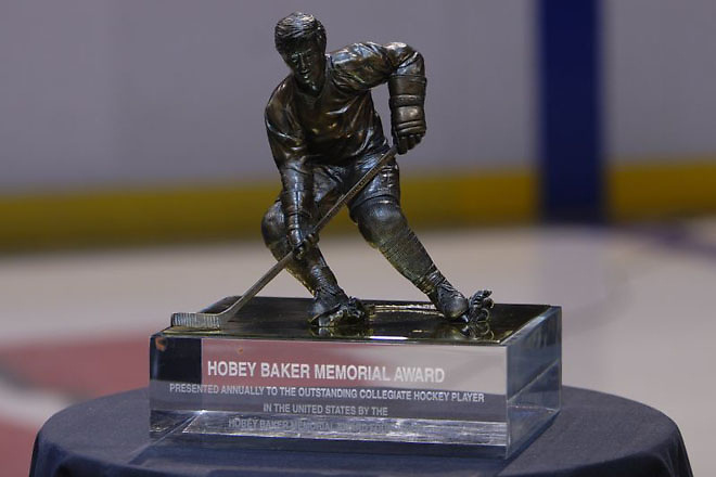 The Hobey Baker Award, photographed in 2006 in Milwaukee. (Jim Rosvold)