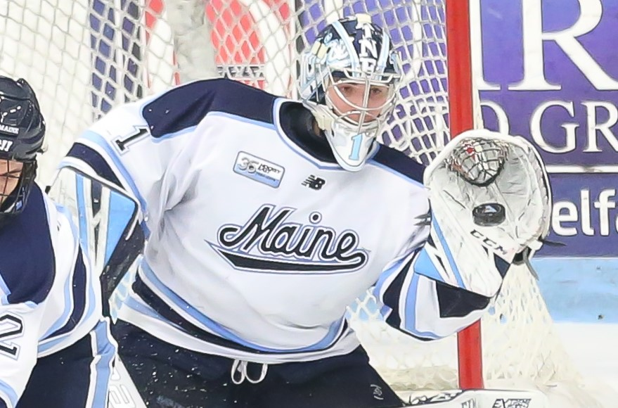 Boston signs Maine goalie Swayman, who leaves for NHL with one year of eligibility remaining