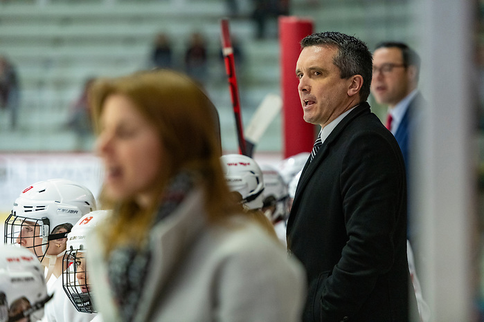 The Cornell Big Red women's ice hockey team competes against Saint Lawrence on Friday, Feb. 28, 2020 in Lynah Rink in Ithaca, NY. (Eldon Lindsay/Cornell Athletics)