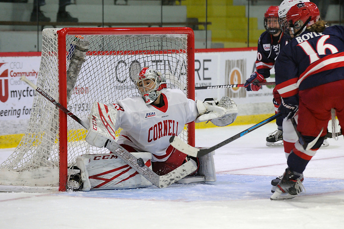 The Cornell Big Red women's ice hockey team competes against Robert Morris on Friday, Oct. 25, 2019 in Lynah Rink in Ithaca, NY. (Ned Dykes)