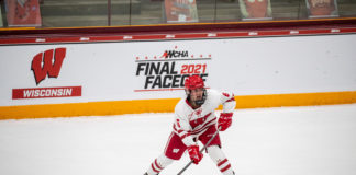 Lacey Eden Wisconsin Women WCHA Final Faceoff 2021